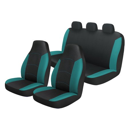 Excellent Auto Drive Universal 3 Piece Teal Dream Seat Cover Set Pdpeps Interior Chair Design Pdpepsorg
