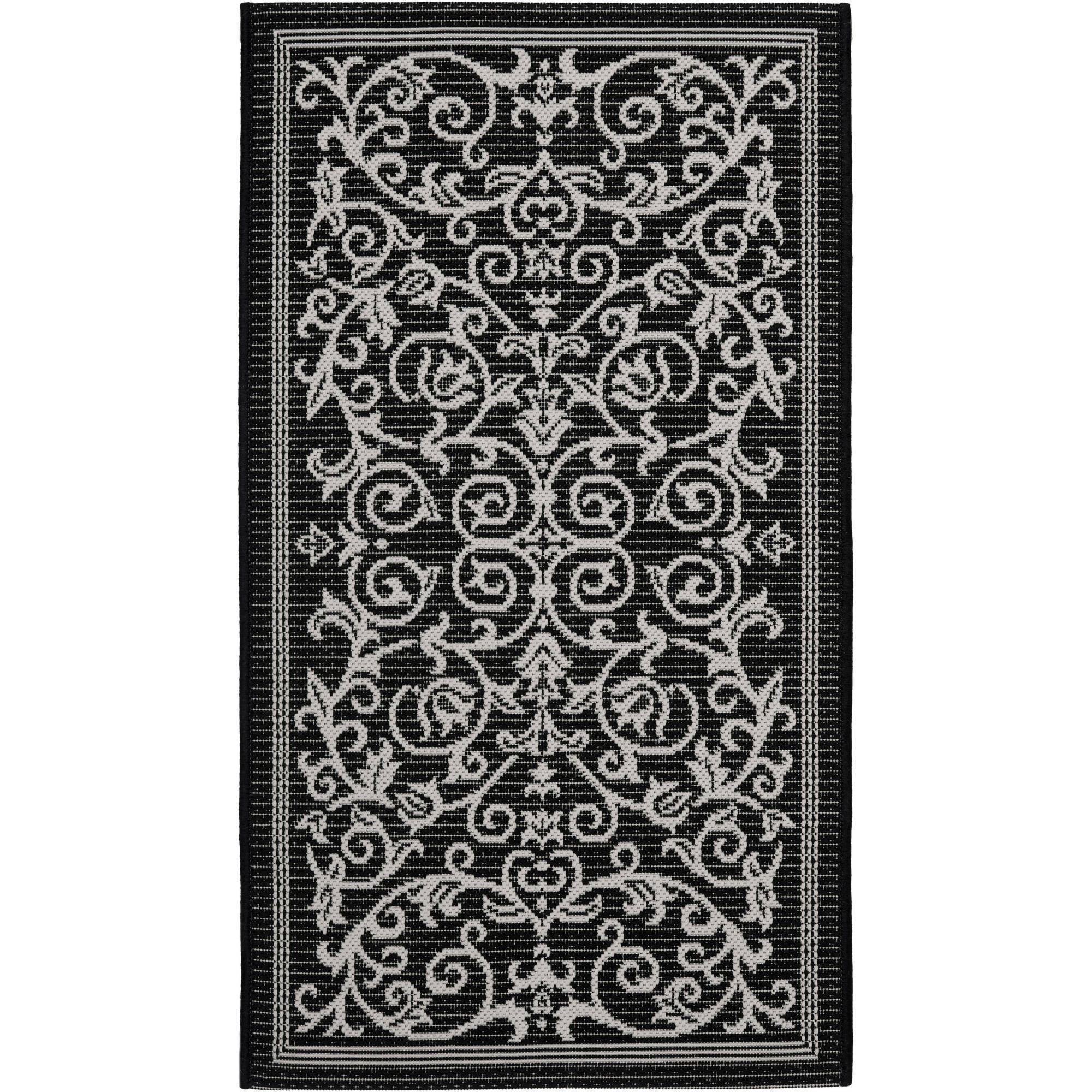 Courtyard Abbey Gate Indoor Outdoor Rug Walmart