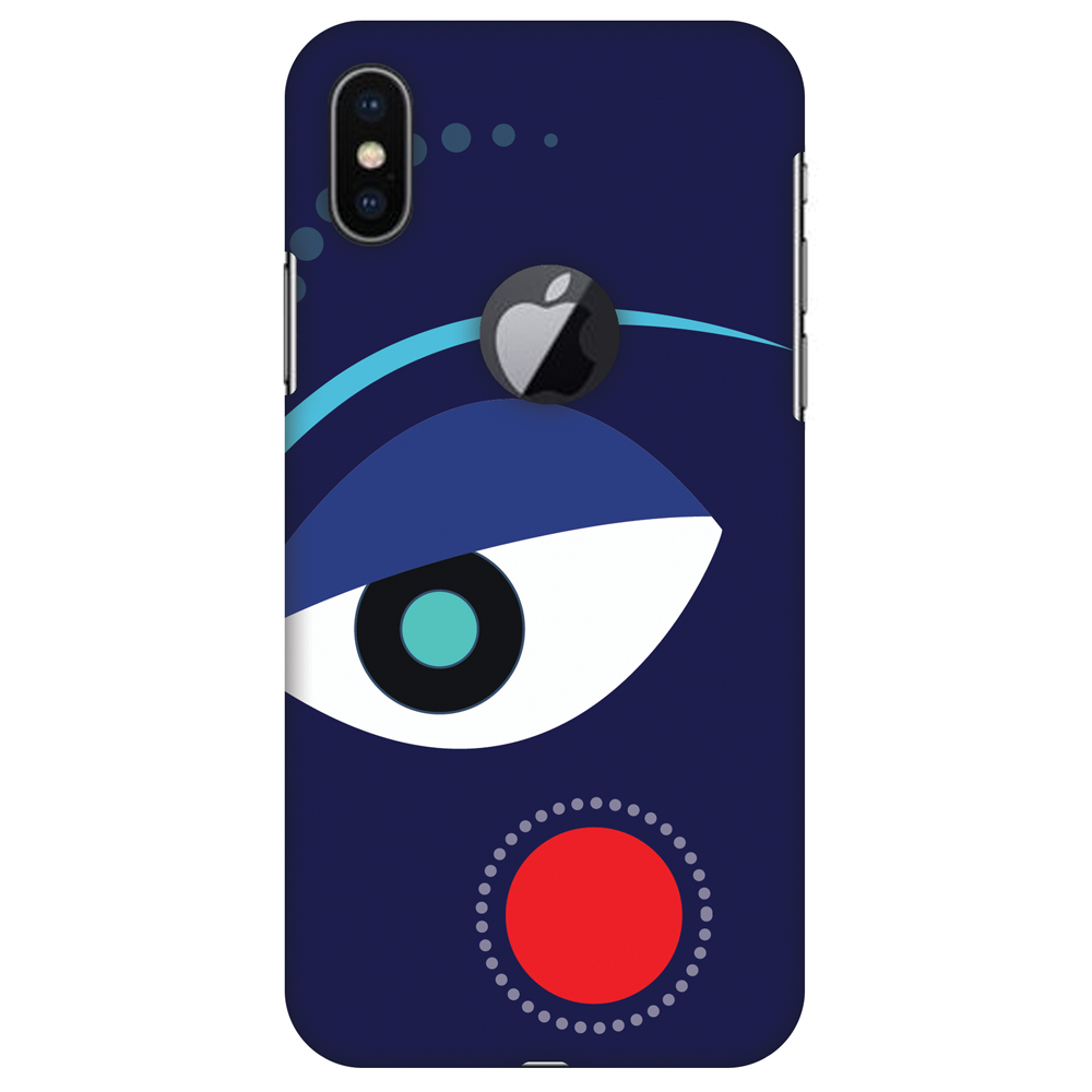 iPhone X Case, Premium Handcrafted Designer Hard Snap on Shell Case ShockProof Back Cover with Screen Cleaning Kit for iPhone X - Divine Goddess - Blue, Cut for Apple Logo