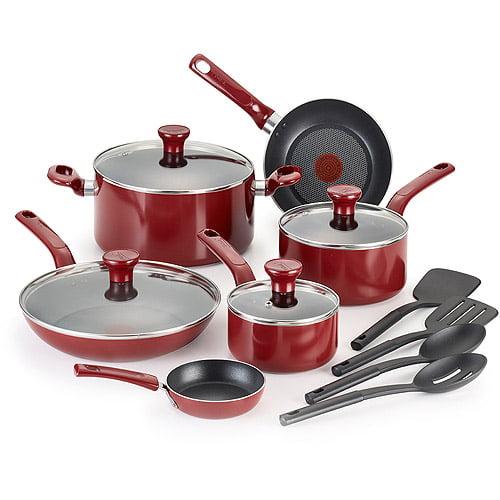 T-Fal 14-Piece Excite Non-Stick Cookware Set