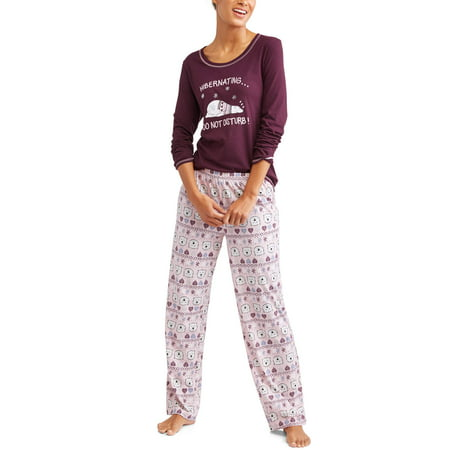 bd7d2e88ee6 Secret Treasures - Secret Treasures Women s and Women s Plus Long Sleeve  Pajama Set - Walmart.com