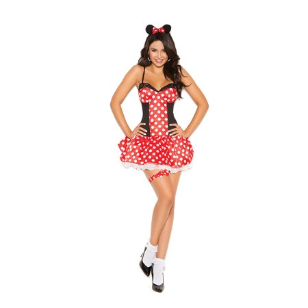 Three Blind Mice Costumes For Adults (Elegant Moments Miss Mouse 3 Piece Womens)