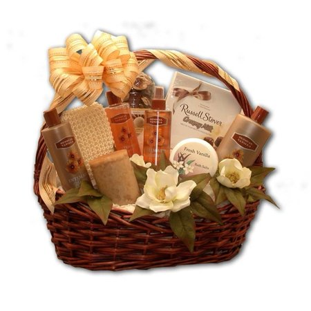 Gift Basket Drop Shipping Vanilla-scented Essence of Luxury Bath & Body Aromatherapy Basket