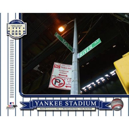 Yankee Stadium 1923-2008 Color Photos Outside of Stadium 161st St & River Avenue Sign Photo (Avenue Photograph)