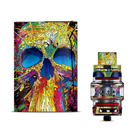 Skins Decals for Smok V-Fin 160w Vape / colorful skull 1 - Colorful Skull