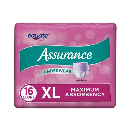 Assurance Incontinence Underwear for Women, Maximum, XL, 16