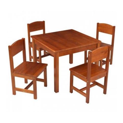 Farmhouse Table and Chair Set Caramel Brown - KidKraft
