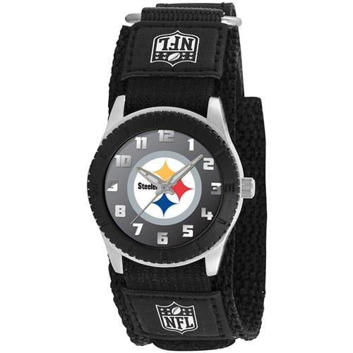 """Game Time Pittsburgh Steelers Nfl Kids """"rookie Series"""" Watch (black)"""