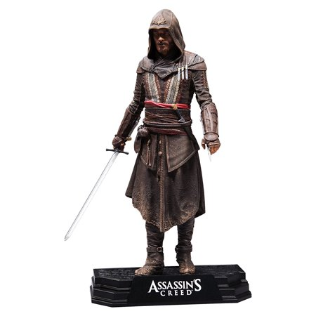 "Toys Assassin's Creed Movie Aguilar 7"" Collectible Action FigureFigure comes armed with an assassin sword and extended Hidden Blade By McFarlane](Ezio Hidden Blade)"