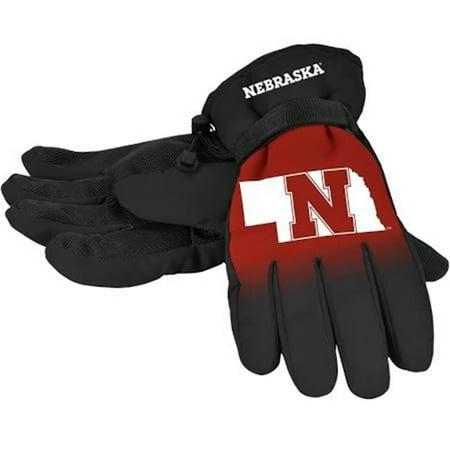 Nebraska Cornhuskers Gloves Insulated Gradient Big Logo Size Large/X-Large - image 1 of 1