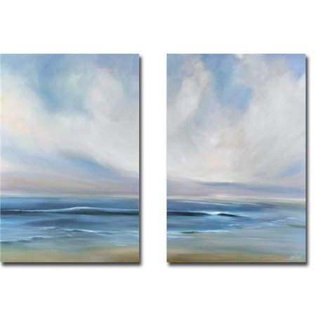 Cove Walk I & II by Joanne Parent 2-Piece Premium Gallery-Wrapped Canvas Giclee Art Set - 16 x 24 x 1.5 in. - image 1 de 1