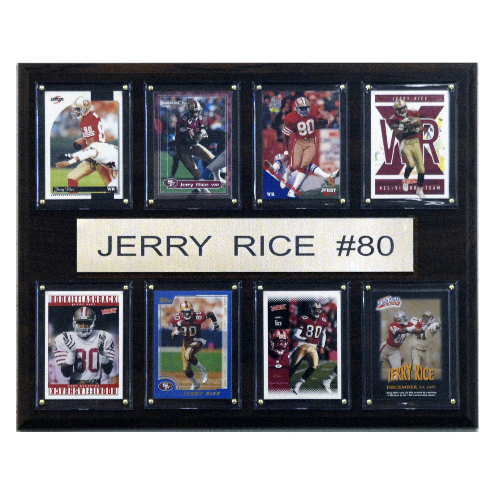 C&I Collectables NFL 12x15 Jerry Rice San Francisco 49ers 8-Card Plaque