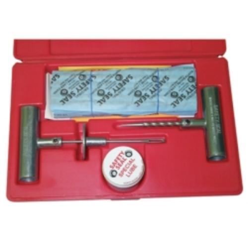 "Truck Tire Repair Kit, With 30 8"" Inserts, Insertion Tool, Spiral Probe, Lube, Extra Needle, In Case"