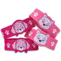american greetings paw patrol party favors, pink rubber bracelets, 4-count