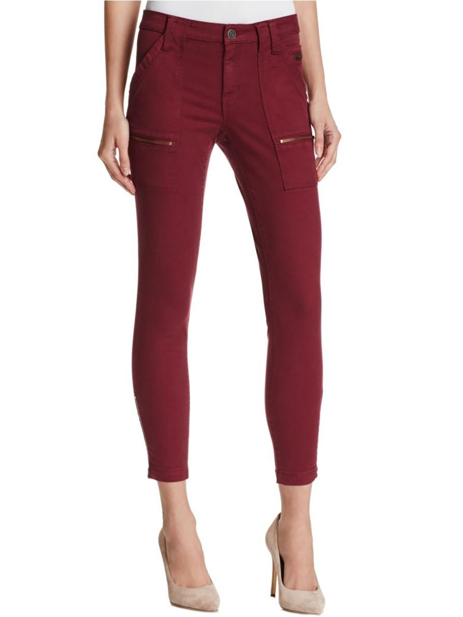 Joie Womens Park Twill Mid-Rise Skinny Jeans