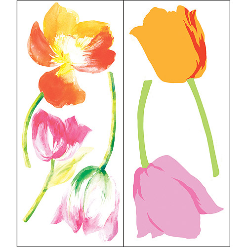 Tulip Mania Self-Stick Decal