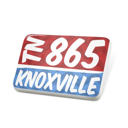 Porcelein Pin 865 Knoxville, TN red/blue Lapel Badge – NEONBLOND - Halloween City Knoxville Tn