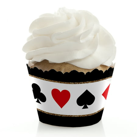 Las Vegas - Casino Party Cupcake Wrappers - Set of 12 - Las Vegas Decorations Ideas