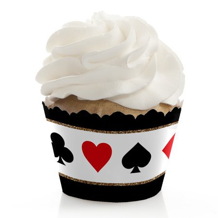 Las Vegas - Casino Party Cupcake Wrappers - Set of 12 - Casino Themed Party