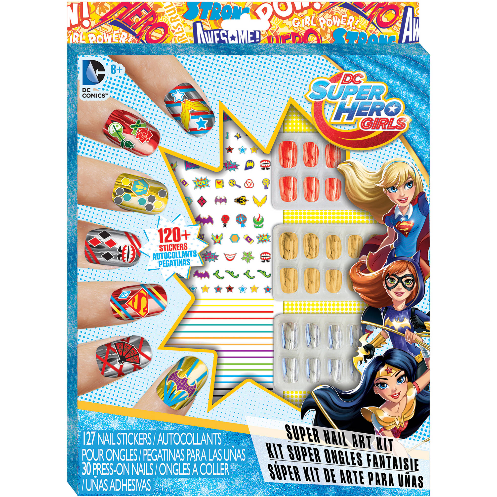 DC Super Hero Girls Super Nail Art Kit - Walmart.com