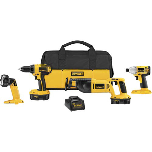 Factory-Reconditioned Dewalt DCK425CR 18V Compact Cordless 4-Tool Combo Kit