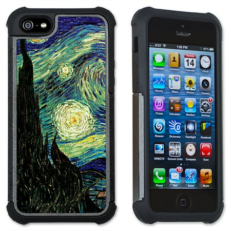 Apple iPhone 6 Plus / iPhone 6S Plus Cell Phone Case / Cover with Cushioned Corners - Van Gogh: Starry Night ()