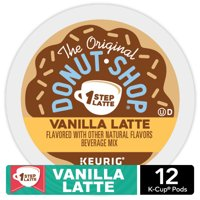 The Original Donut Shop Vanilla Latte, Single Serve Coffee K-Cup Pod, Flavored Coffee, 12 Count