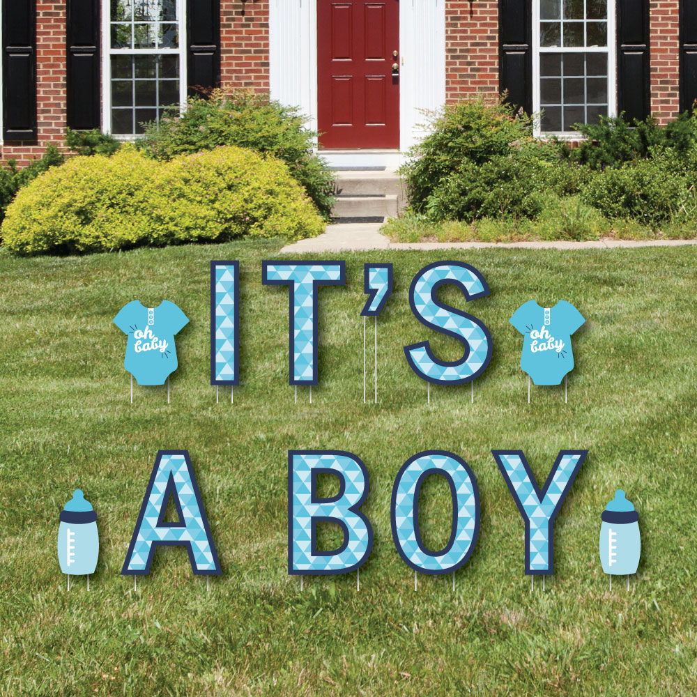 Big Dot of Happiness It's A Boy - Yard Sign Outdoor Lawn ...
