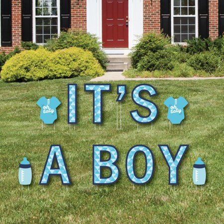 It's A Boy - Yard Sign Outdoor Lawn Decorations - Boy Baby Shower And Baby Announcement Yard Signs - Baby Announcement Signs For Yard