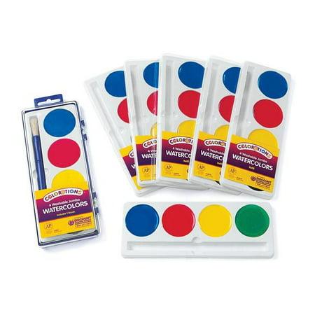 Jumbo Watercolor Set - Colorations 4 Best Value Jumbo Washable Watercolors - Set of 6 Refills (Item # RFIL4ST)