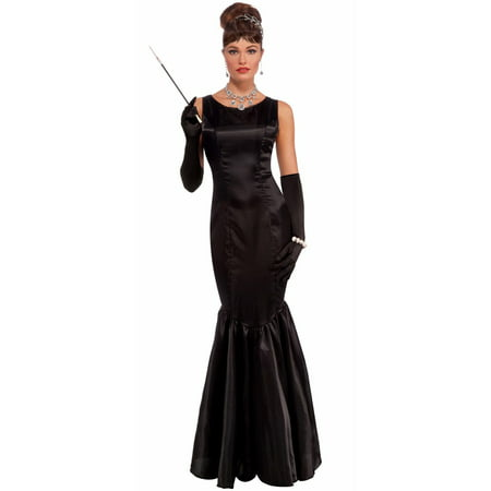 Womens Vintage Hollywood High Society Adult Costume - Hollywood On Halloween
