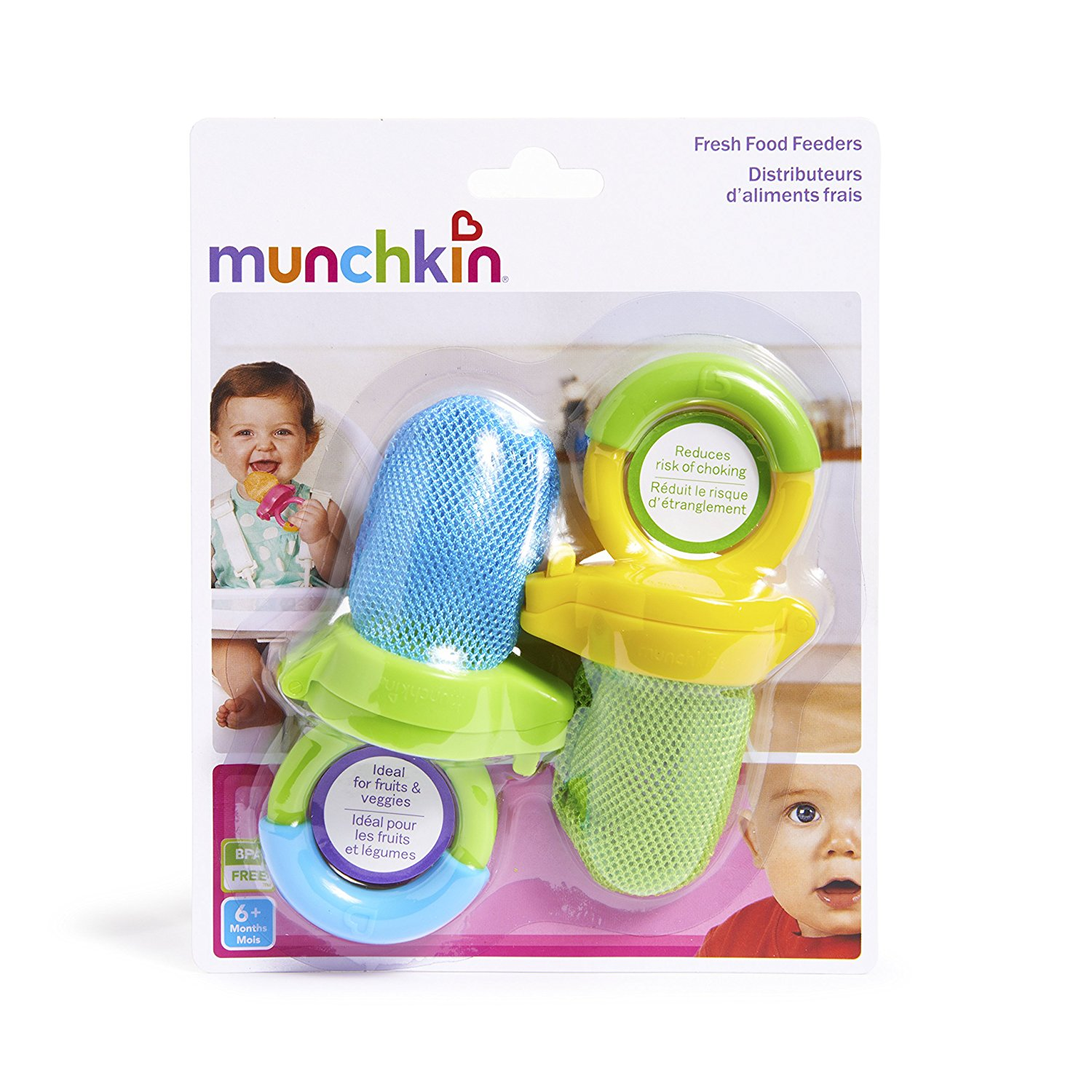 Munchkin Fresh Food Feeder, 2 Pack - Assorted Colors