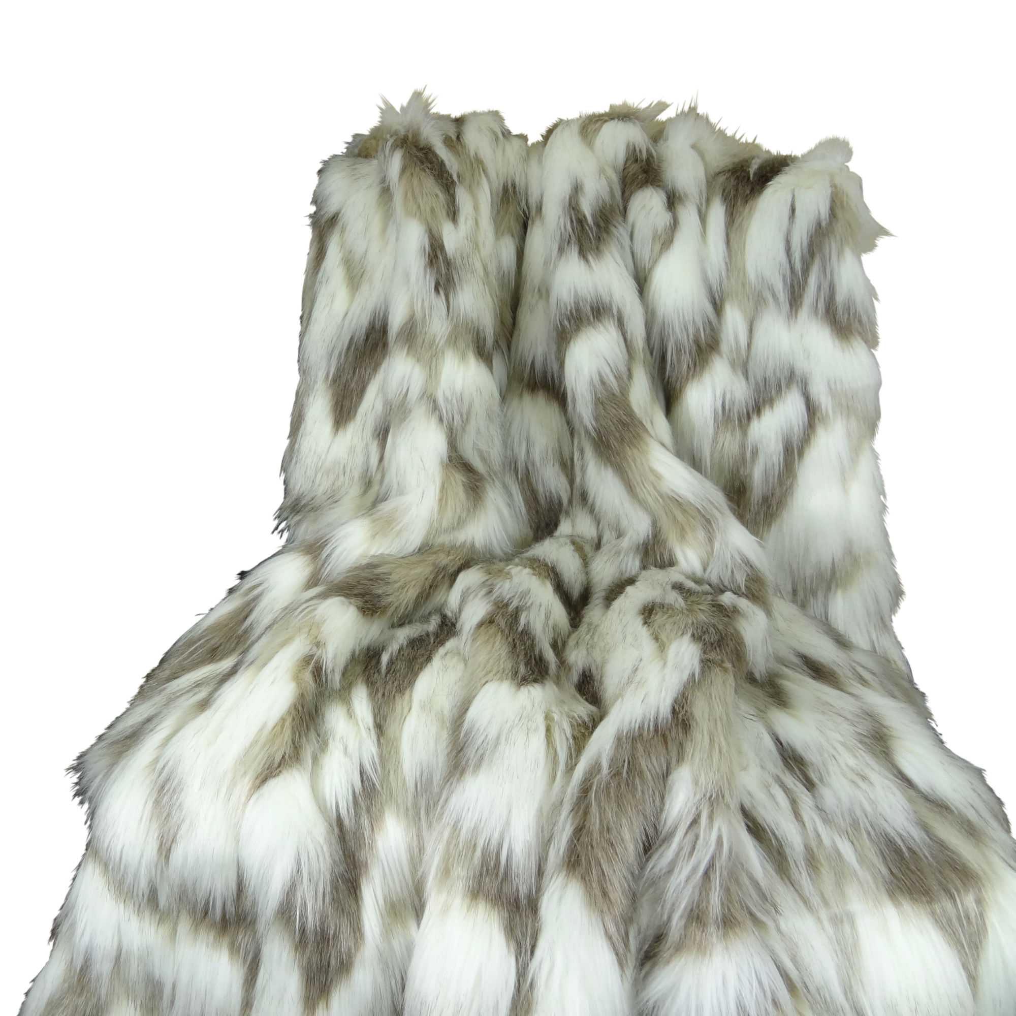 HomeRoots Beddings,Plutus Tibet Faux Fox Handmade Throw,Tibet Faux Fox