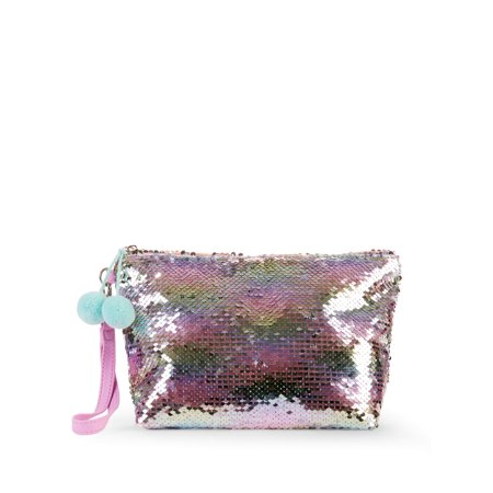 - No Boundaries Reversible Sequin Wristlet Pouch