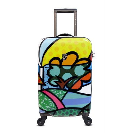 Heys USA Luggage Britto Flowers 22 Inch Hard Side Carry On Suitcase