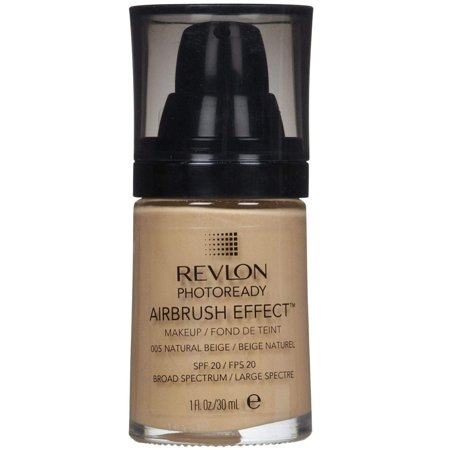 Revlon Photoready Airbrush Effect Makeup Foundation Natural Beige #005 + Facial Hair Remover Spring