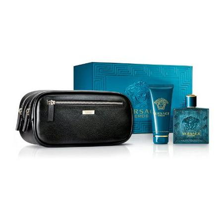 10f87e2942c Versace - Versace Eros Men's Gift Set - 3.4 oz EDT Spray, 3.4 oz Shower  Gel, Travel Bag - Walmart.com