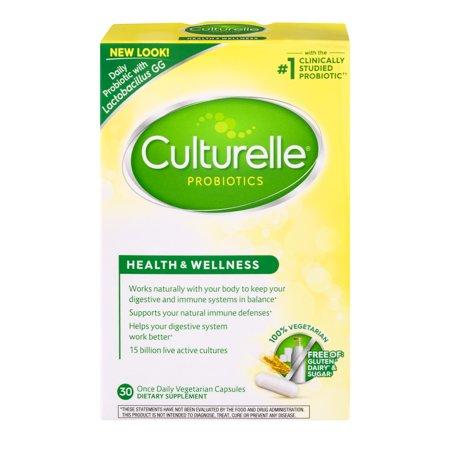 Culturelle Probiotics Health & Wellness Dietary Supplement Capsules - 30 CT