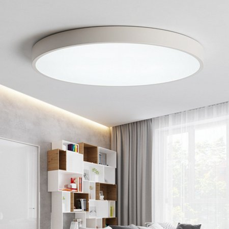 Down Lighting Fixture (Modern Round LED Ceiling Light Warm White Dimming 12W/15W Ceiling Down Light Surface Mount Fixture for Living Room Bedroom Kitchen Home Decor)