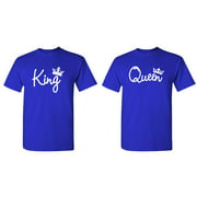 KING and QUEEN - Couples TWO T-Shirt Combo Pack