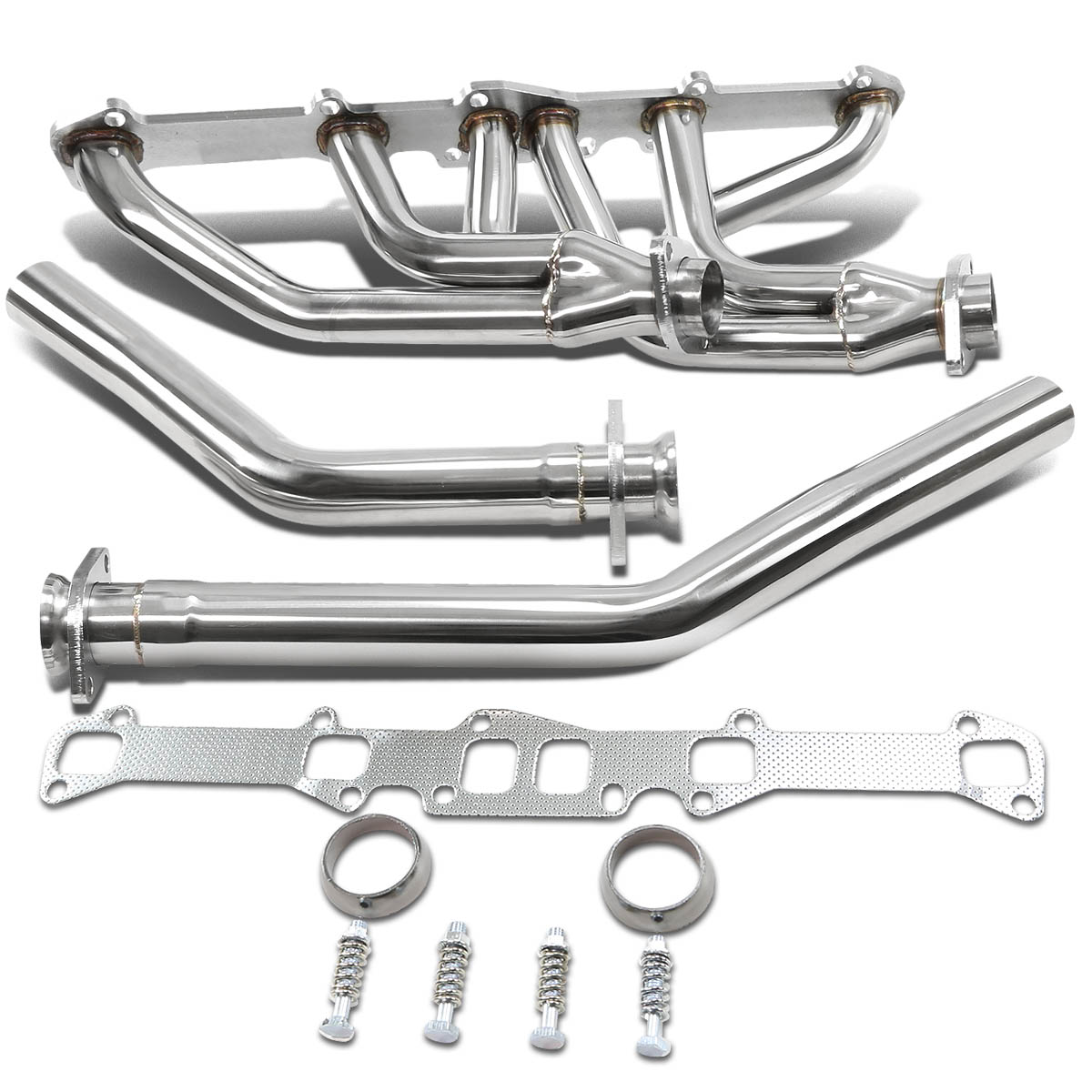 For Ford/Mercury I6 6-2-1 Design Stainless Steel Exhaust Header Kit (Polished Chrome) 144/170/0/240/250 CID