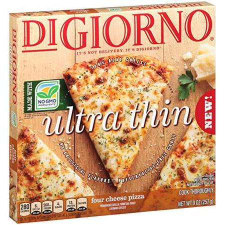 DIGIORNO Ultra Thin Four Cheese Frozen Pizza 9 oz. Box -  NESTLE USA/PIZZA, 0007192163595