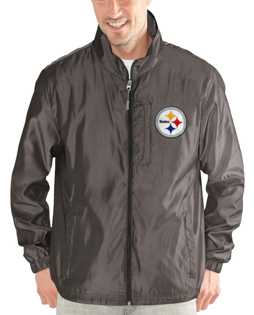 "Pittsburgh Steelers NFL G-III ""Executive"" Full Zip Premium Men's Jacket by G-III Sports"