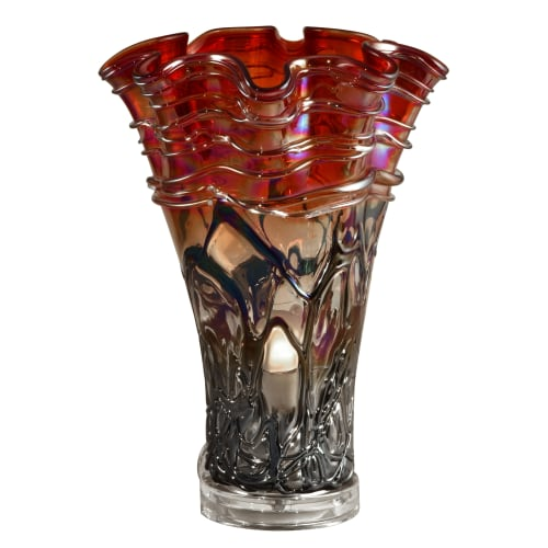 "Dale Tiffany AA16055 Sunset Single Light 15"" Tall Hand Blown Glass Accent Lamp"