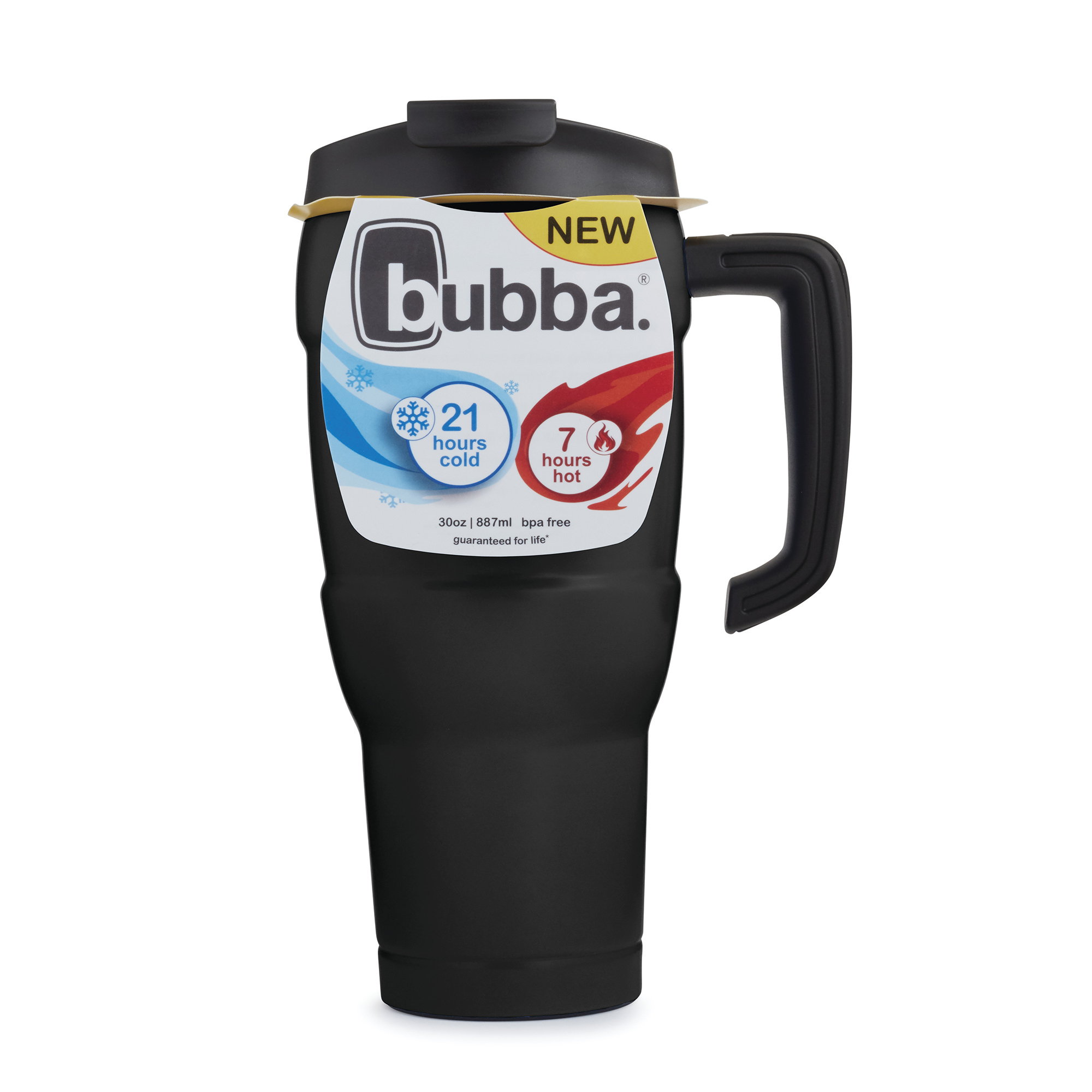 Bubba Hero Extra Large 30 Ounce Vacuum Insulated Stainless Steel Licorice Travel Mug