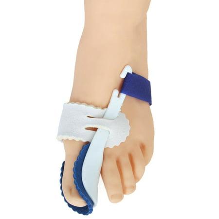 Foot Care Night Splint (A Pair of Big Toe Bunion Straighteners Night Splint Hallux Valgus Pad Correctors Foot Care (White+Blue))
