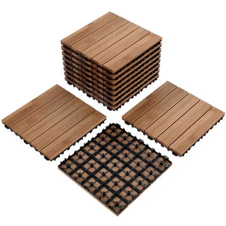 Topeakmart Patio Pavers Decking Flooring Deck Tiles 12 x 12