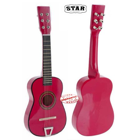 Star Kids Acoustic Toy Guitar 23 Inches Color Hot Pink
