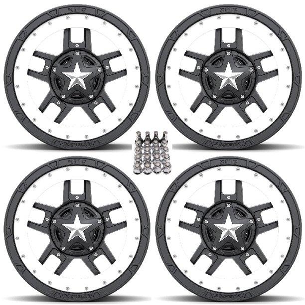 XS827 RS3 Beadring Wheels/Rims White/Black 18