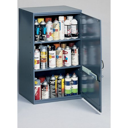 "Durham 056-95 Gray Cold Rolled Steel Utility Cabinet, 19-7/8"" Width x 32-3/4"" Height x 14-1/4"" Depth, 2 Shelves"